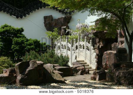 Stone Bridge At Chinese Scholar's Garden