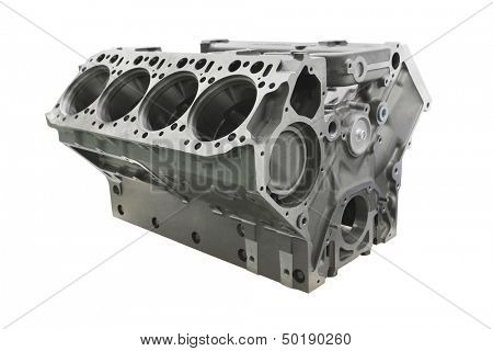 The image of cylinder block of truck engine