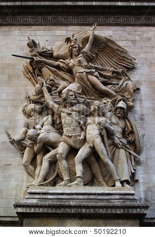 Low relief Marseillaise