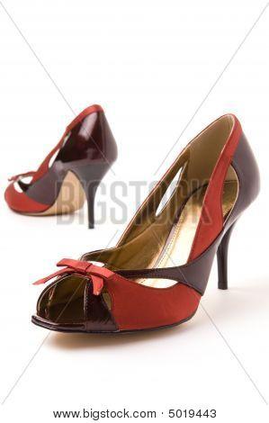 Red Brown Ladies Shoes