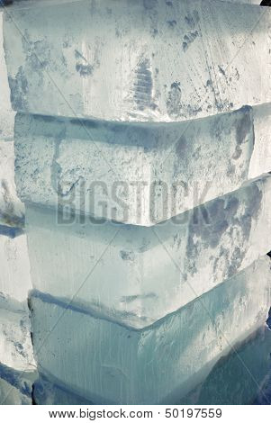 Big Translucent Ice Blocs