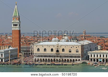 Piazza San Marco In Venice With The High Bell Tower 3