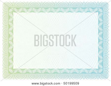 Template certificate currency and diplomas. Vector illustration poster