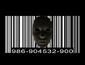 Mask with Bar code poster