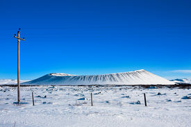 Snow Covered Volcanic Crater