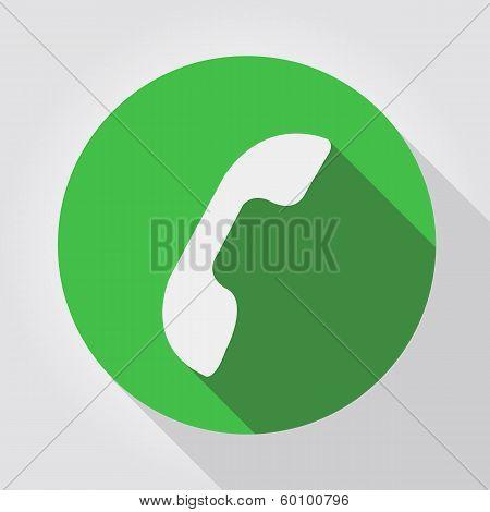 Phone icon green, flat design