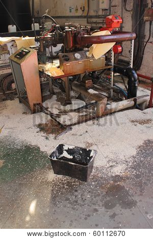 A Diesel fuel spill