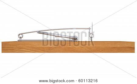 Mousetrap. Isolated render on a white background poster