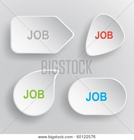 Job. White flat raster buttons on gray background.