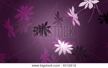 Background Design With Floral Shapes