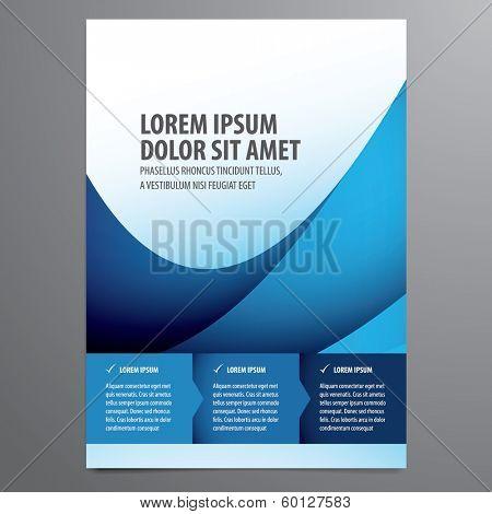 business flyer, brochure vector template