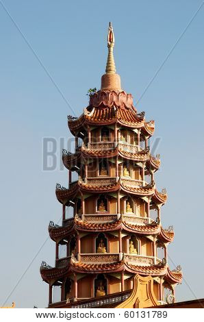 Chinese pagoda temple of China