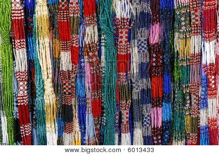 Colorful cheap glass necklaces from the marketplace wide choice of colors poster