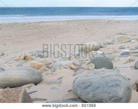 Big Pebbles On Beach At Achill Island Ireland