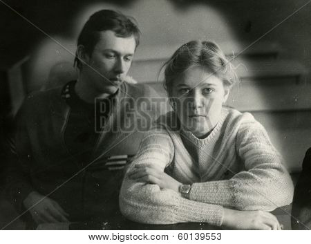 VORONEZH, USSR - CIRCA 1986: An antique photo shows portrait of