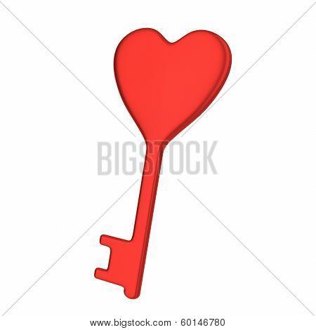 Heart key, 3d