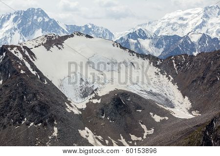 Landscape of Tien Shan mountains range