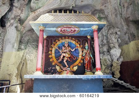 Shrine With Statue Of Hindu God Shiva Nataraja