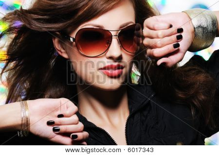 Face Of Glamour Stylish Beautiful  Woman