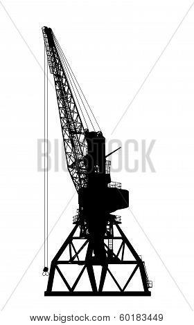 Building crane silhouette.