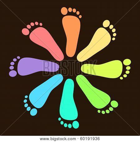 Colored Footprint Design