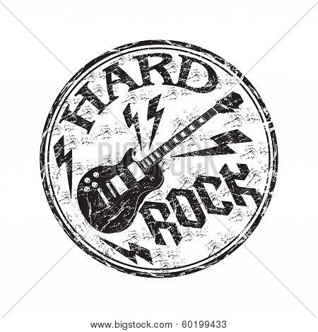 Hard rock rubber stamp