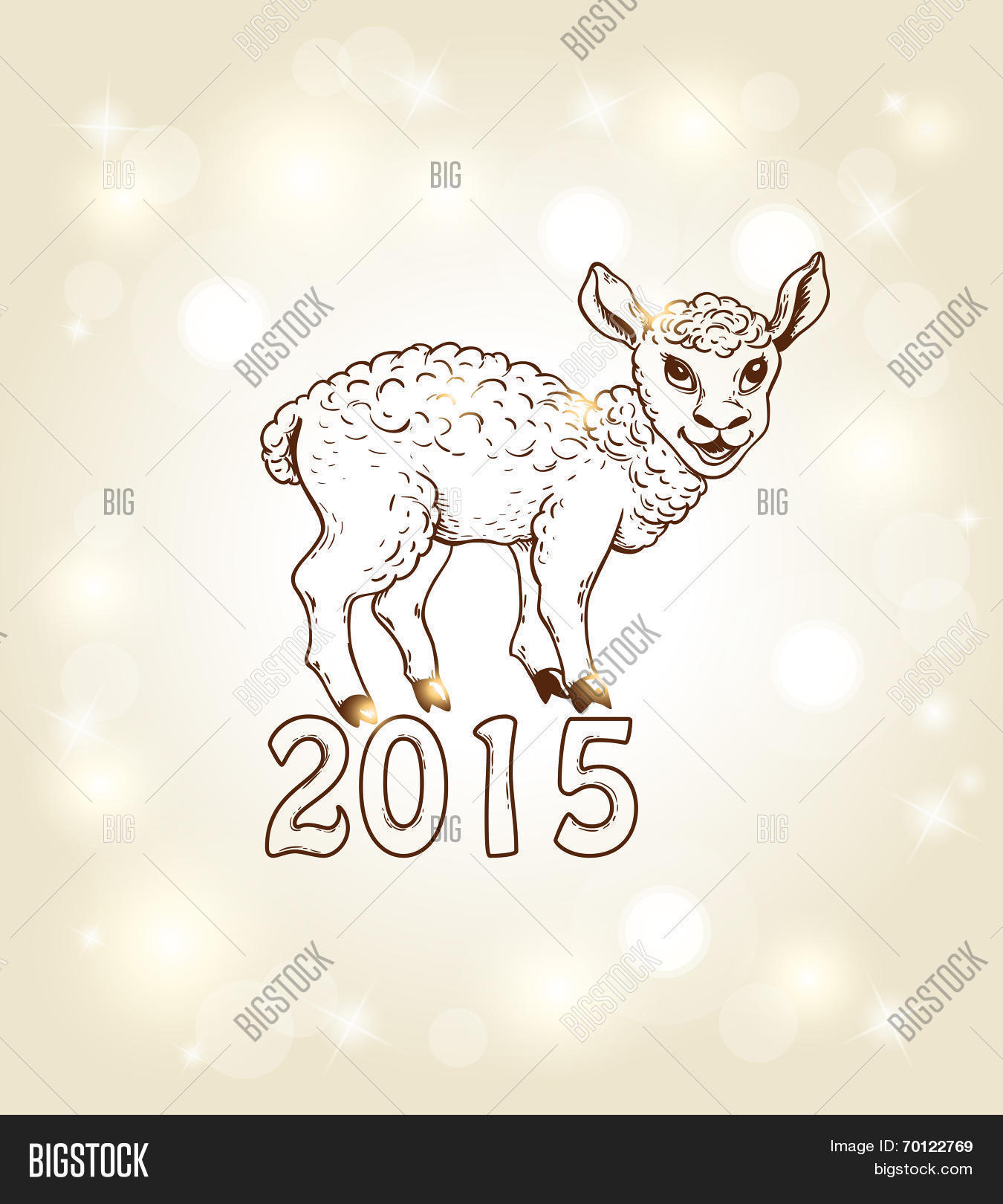 New Year Card Vector Photo Free Trial Bigstock