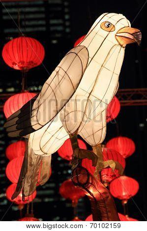 Chinese bird lantern for moon festival
