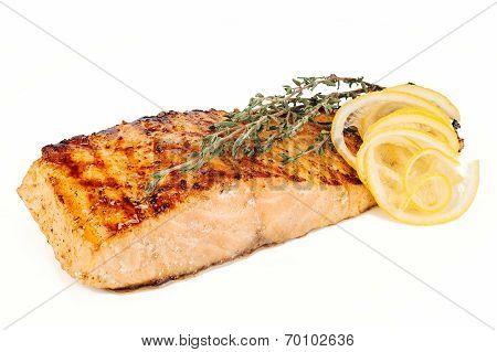 Grilled Fish, Salmon Steak