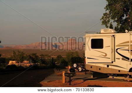Sunset At Campground In Page Arizona