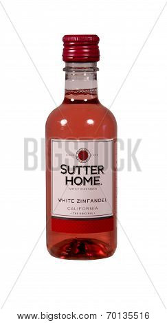 Bottle Of Sutter Home White Zinfandel Wine