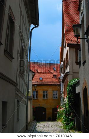 Small medieval inner yard in Bamberg