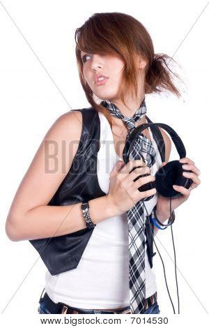 Girl With Earphone