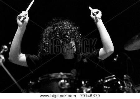 Young Drummer Boy Live On Stage