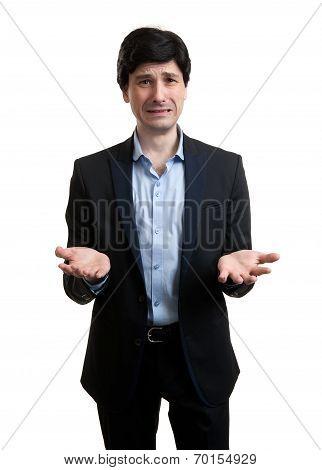 Crying Businessman