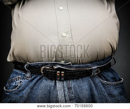 Overweight stomach (shallow focus)