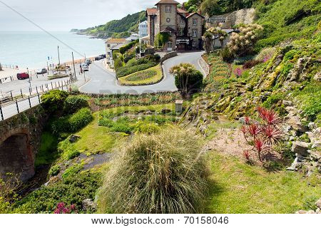 Ventnor botanic garden Isle of Wight south coast of the island tourist town