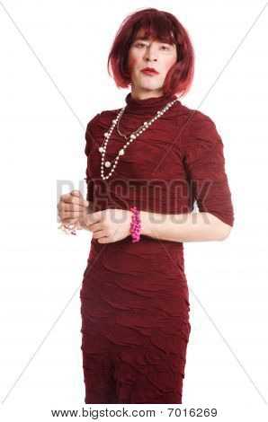 A Man Dressed As A Woman
