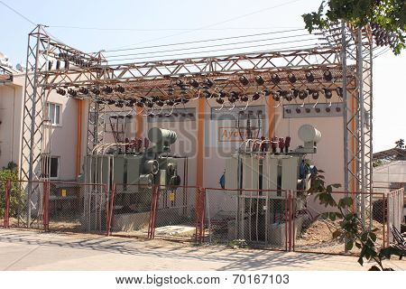 Turkish electricty station