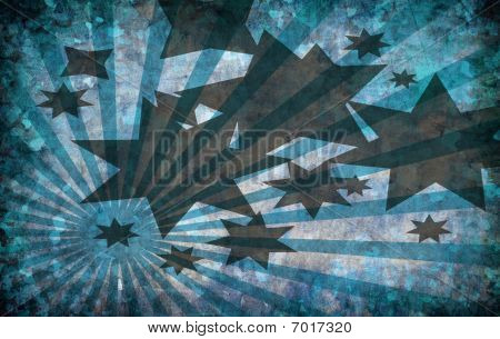 Abstract Vintage Grunge Background With Stars