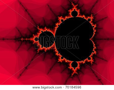Decorative fractal background in a red colors