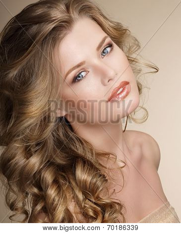 Perfection. Gorgeous Female with Frizzy Ashen Healthy Hair poster