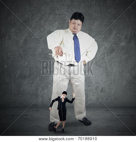 Businessman Controlling His Subordinate