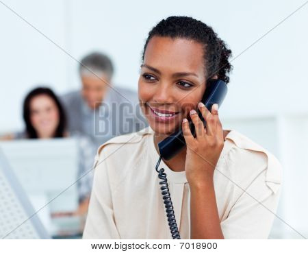 Beautiful Businesswoman On Phone