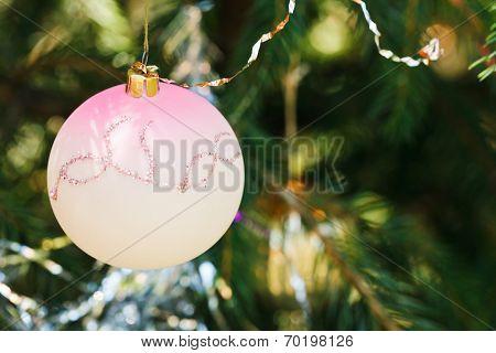 Pink Glass Ball Christmas Decoration