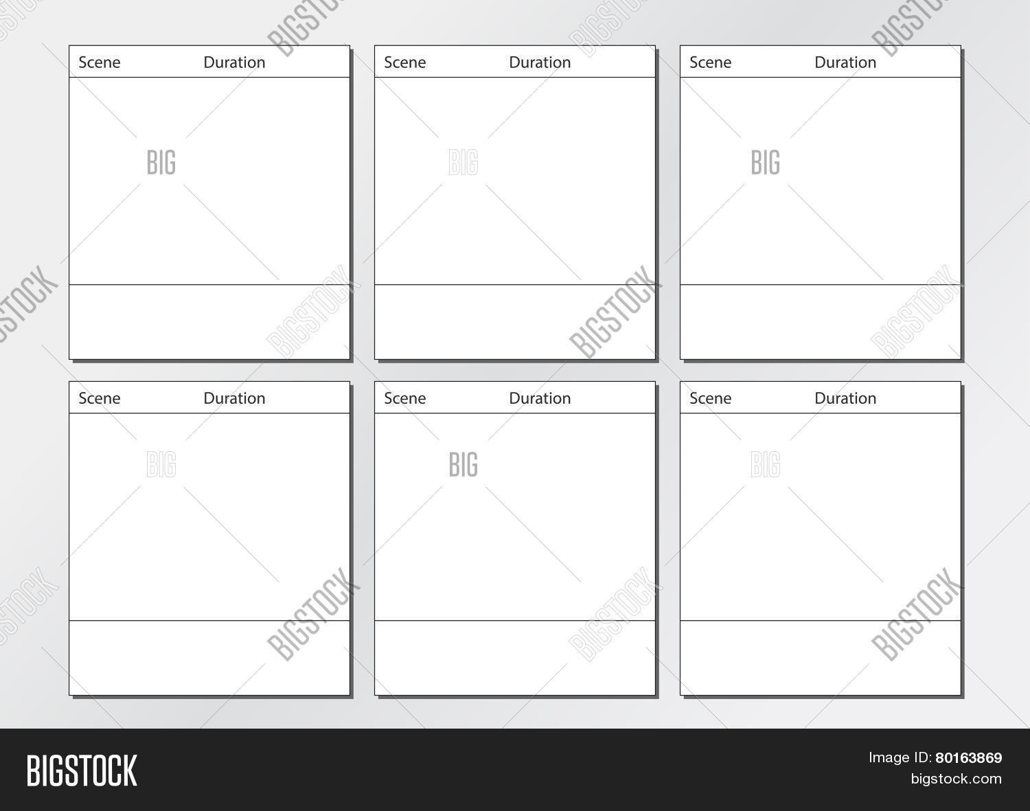 Tv commercial storyboard template vector photo bigstock tv commercial storyboard template 6 frames saigontimesfo