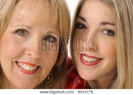 mother daughter closeup