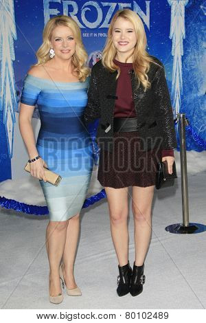 LOS ANGELES - NOV 19: Taylor Spreitler, Melissa Joan Hart at the premiere of Walt Disney Animation Studios' 'Frozen' at the El Capitan Theater on November 19, 2013 in Los Angeles, CA