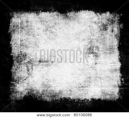 old grunge background texture with black frame