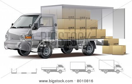 Vector delivery / cargo truck cutaway